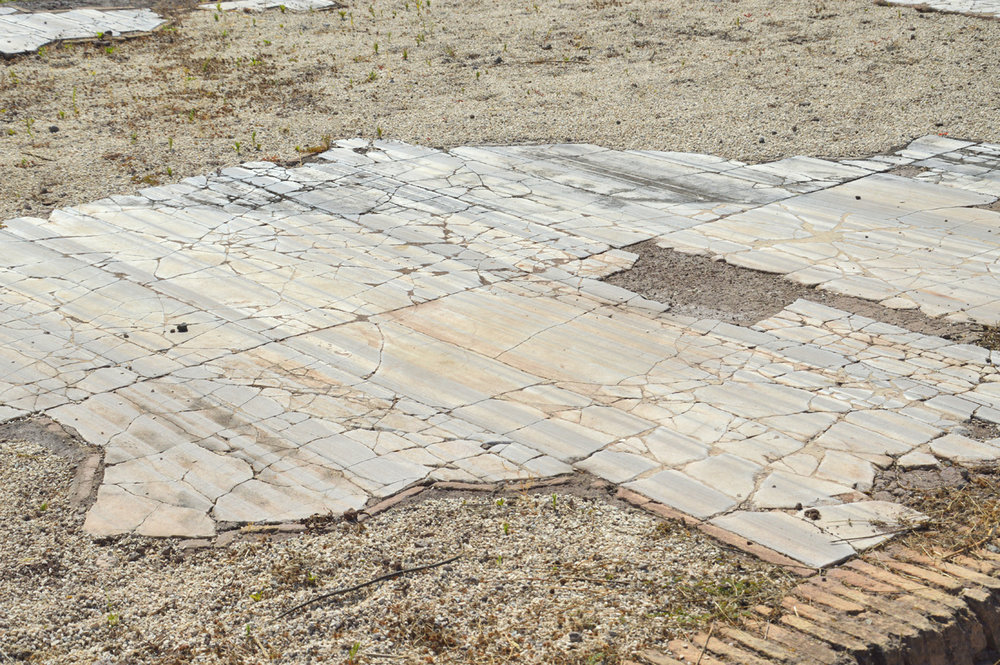 Remains of the marble floor