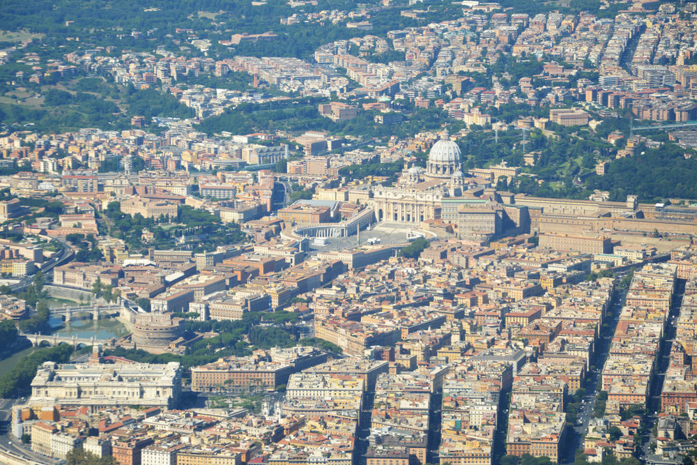 Aerial view of St. Peter's Basilica