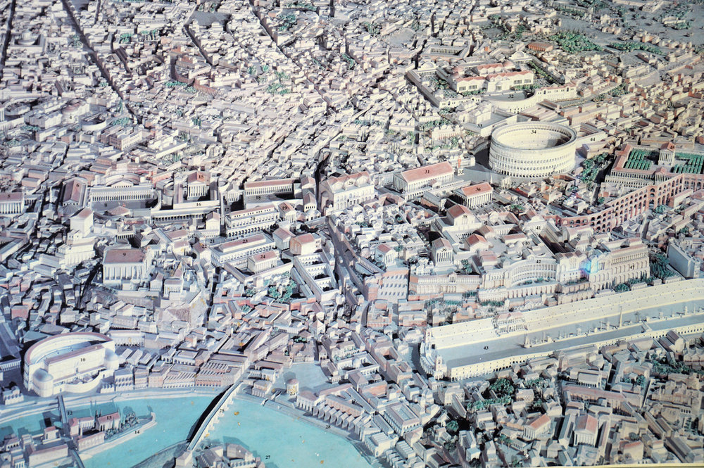 The model of Rome the way it was in the ancient times