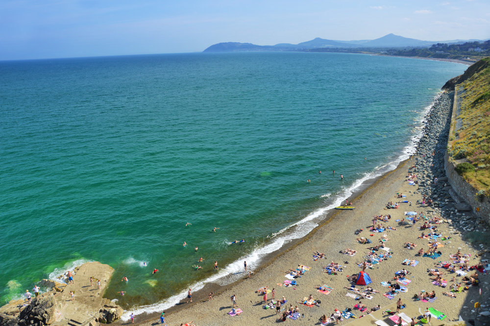 The beach at Killiney