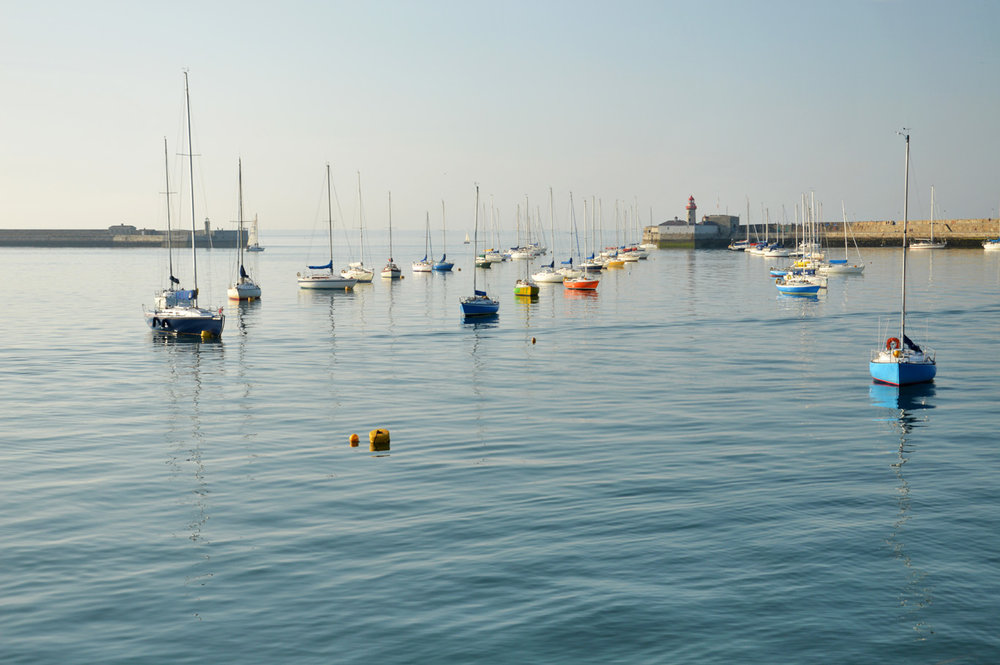 Boats at the pier in Dun Laoghaire
