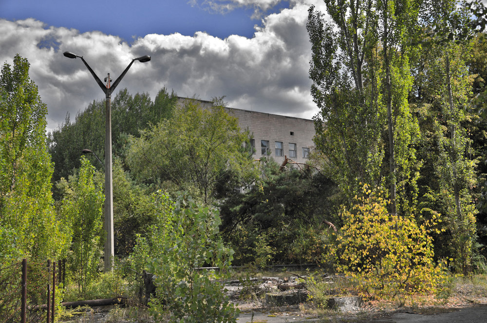 One of the streets in Pripyat