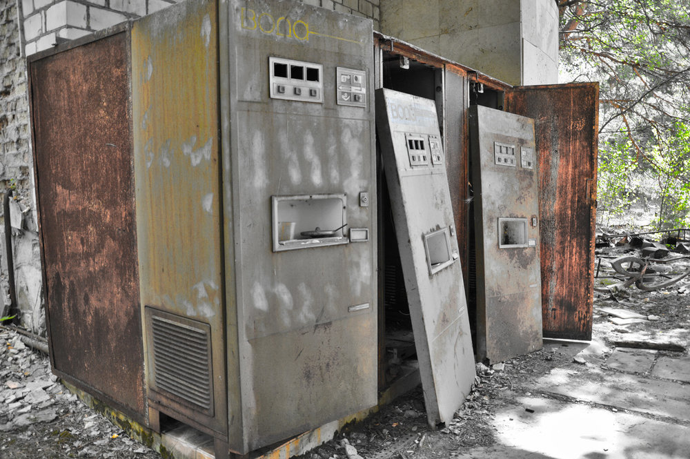 Vending machines in Pripyat
