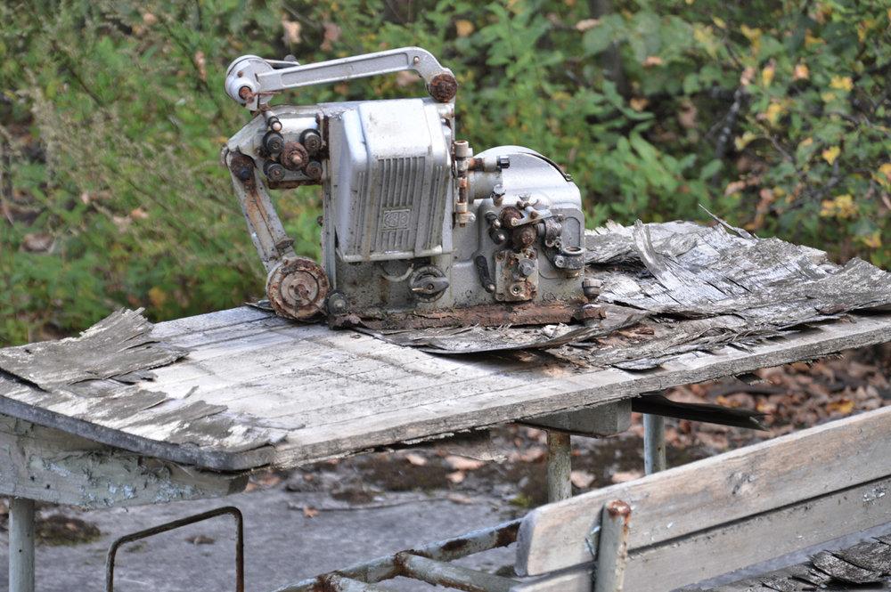 Abandoned sewing machine in Pripyat
