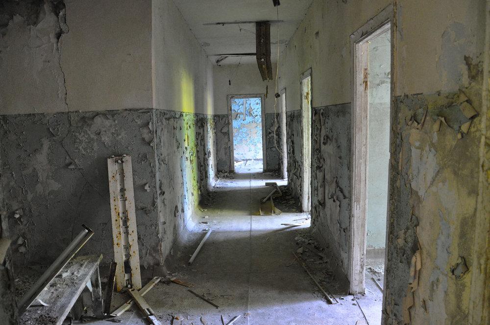Corridor in a school in Pripyat