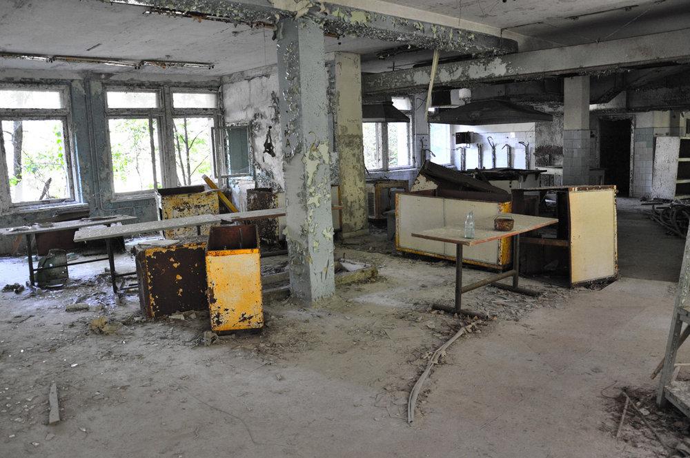 Kitchen in the school