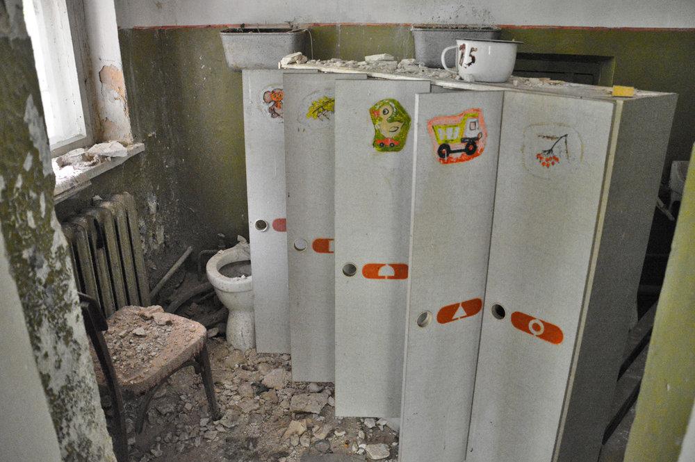 Bathroom in the kindergarten