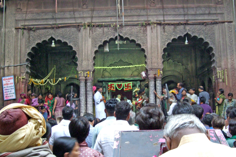 Celebration in the Hindu Temple in Mathura