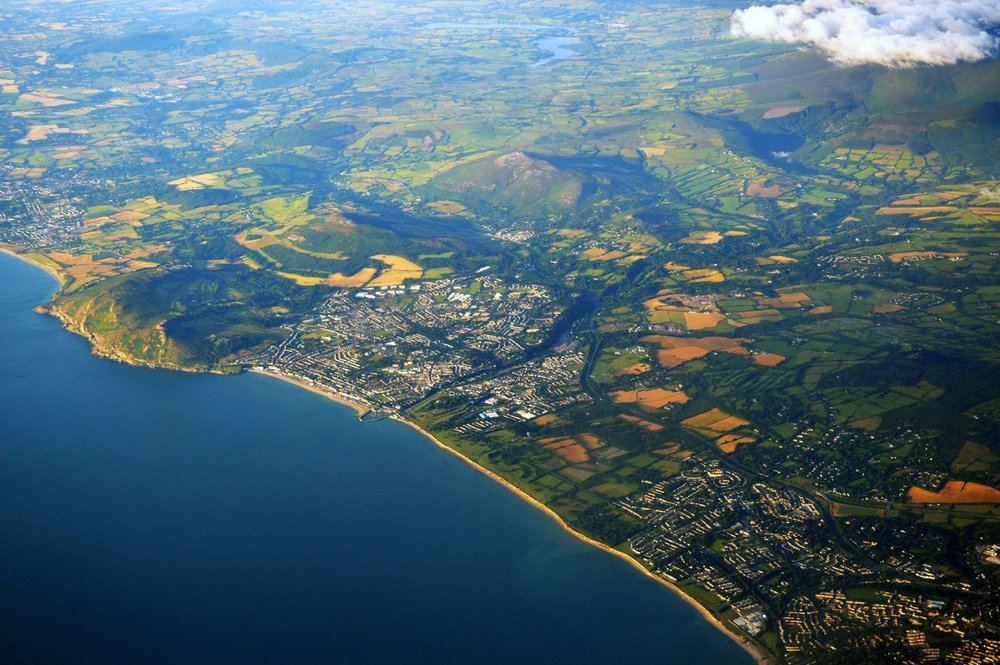 Aerial view of Bray