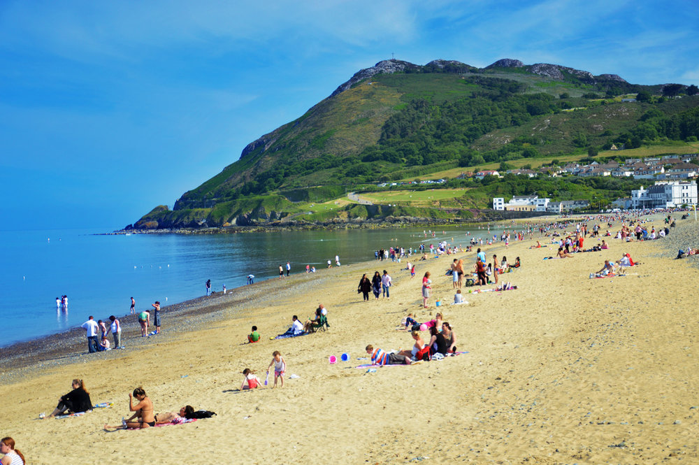 Beach in Bray in the summer