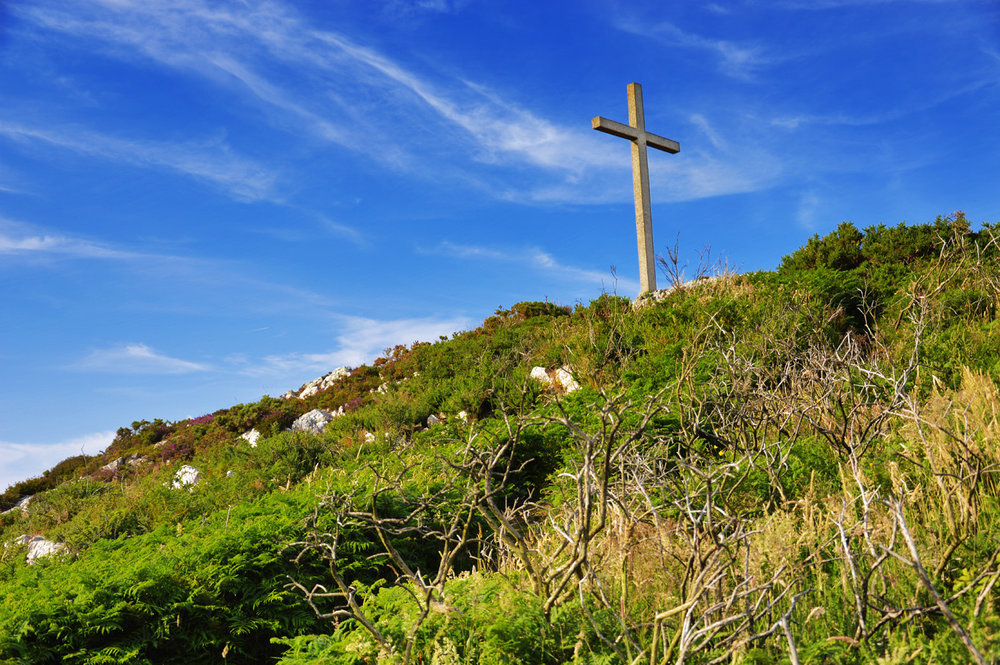 Cross on top of Bray Head