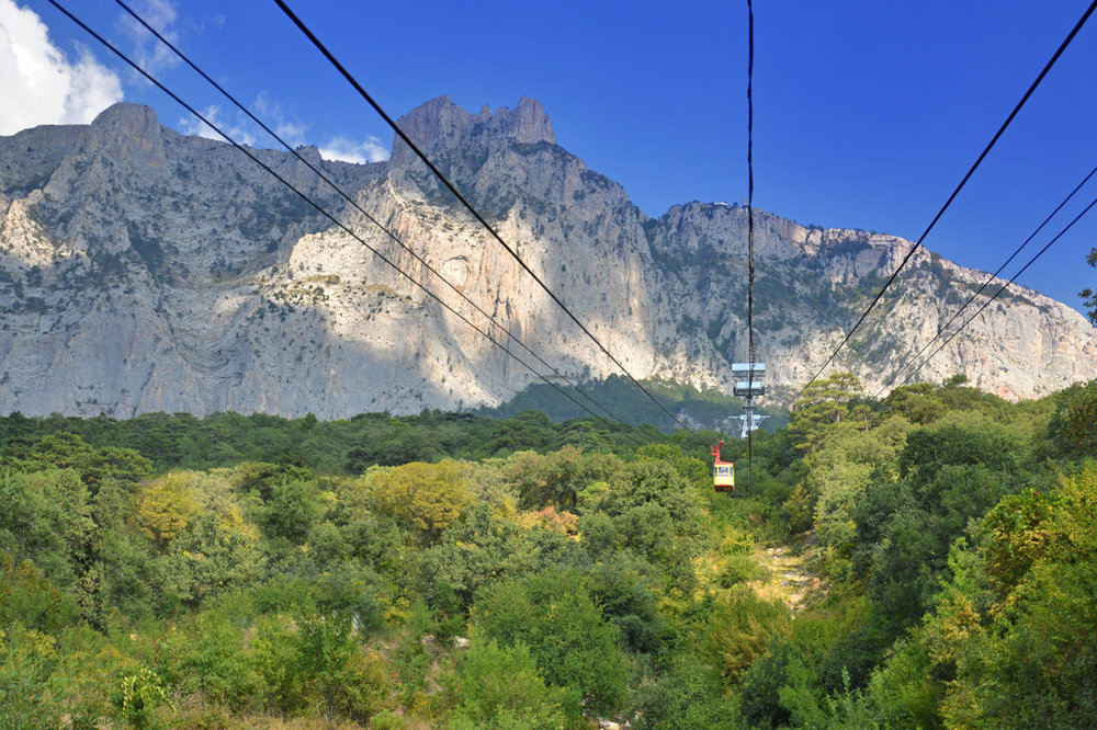 On the way to Ai-Petri, view from cable car