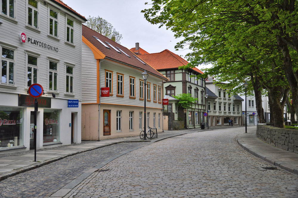Typical street in Stavanger