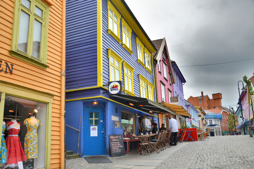 Colorful houses in Stavanger