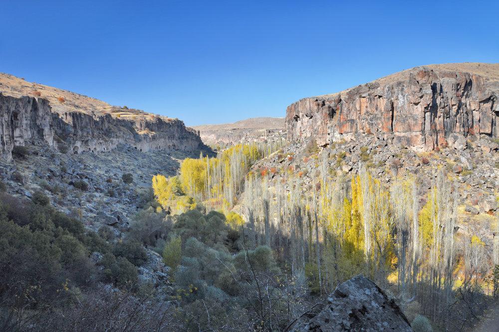 Ihlara Valley seen from St. George's Church