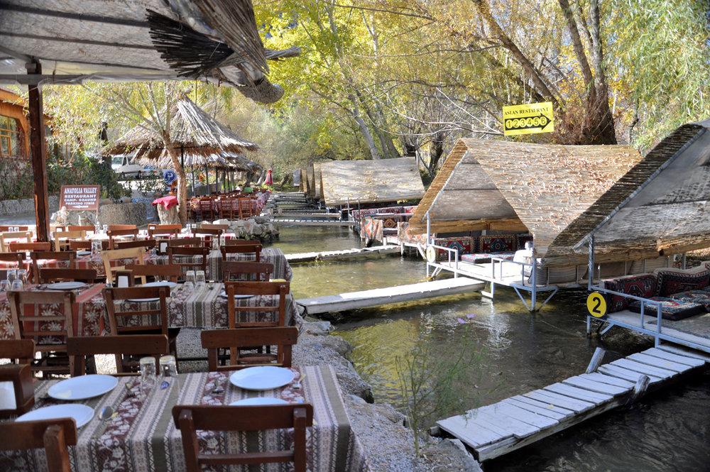 Restaurants on the river