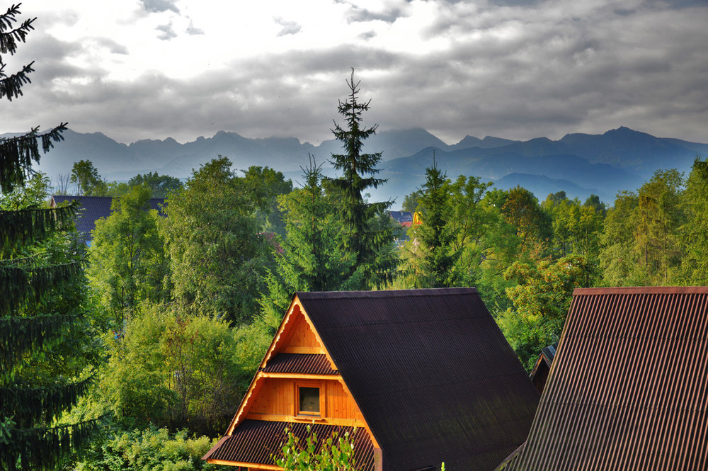 Zakopane - Tatra Maountains and typical cottages
