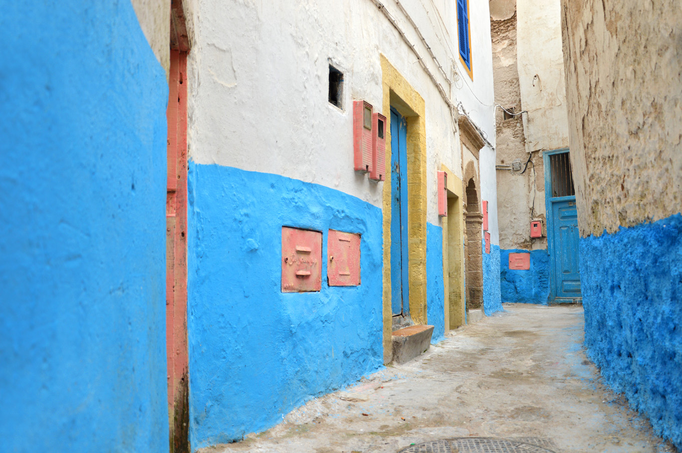Morocco Adventurous Travels Adventure Travel Best Beaches - Old town morocco entirely blue