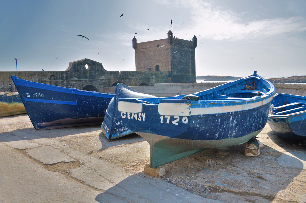 Beautiful blue boats