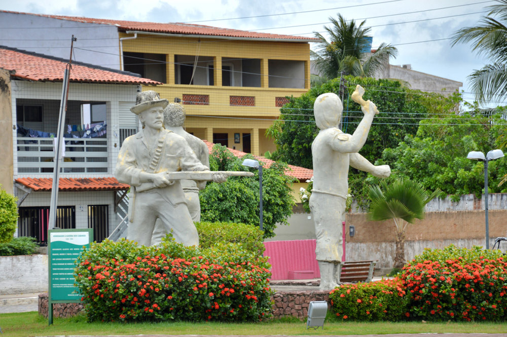 Statues in the town of Maragogi
