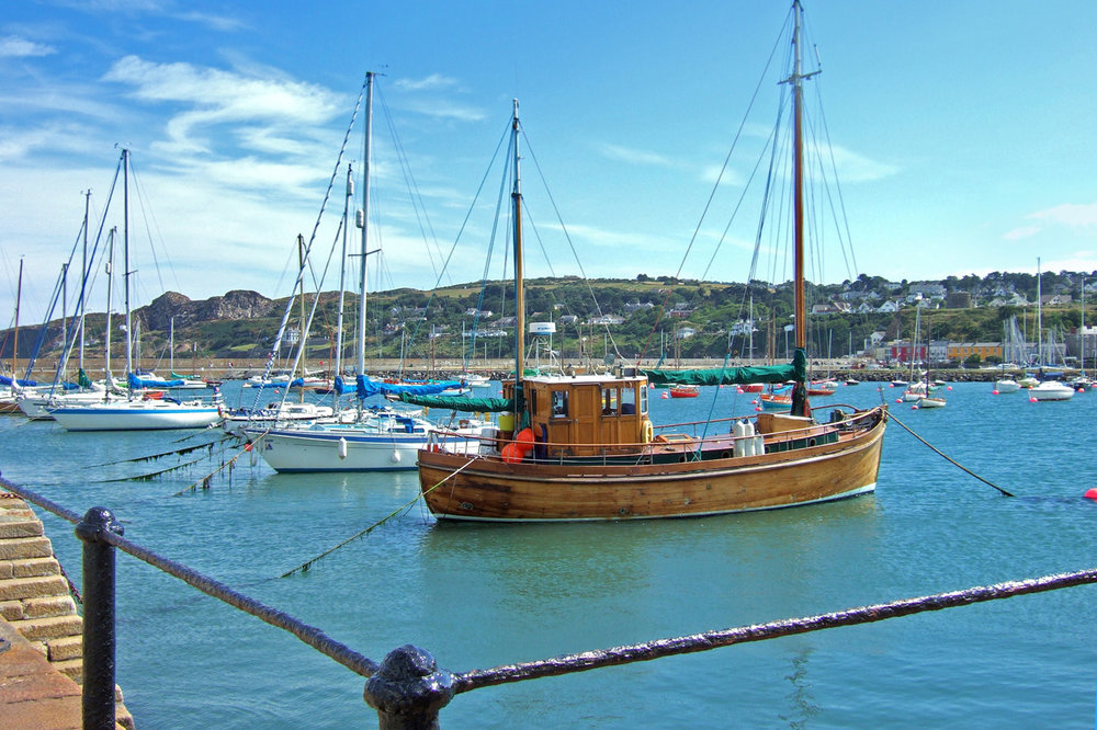 Boats in Howth Harbor