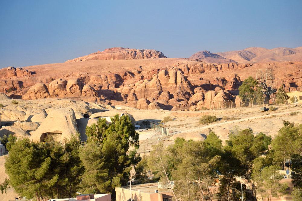 Rock formations around Wadi Musa