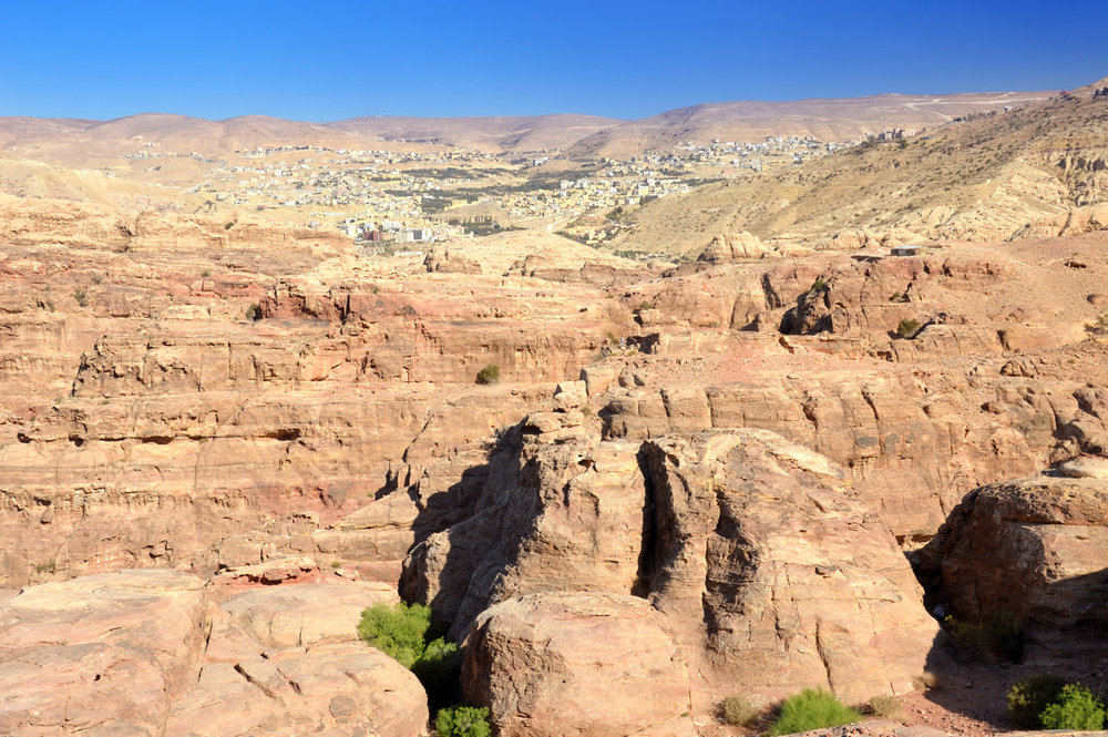 View from High Place of Sacrifice - Wadi Musa in the background