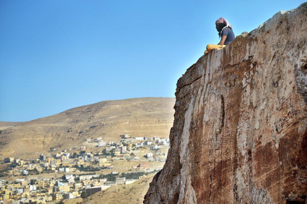 Looking down at Wadi Musa