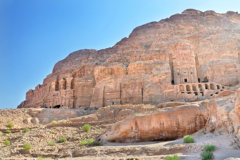 The ancient Nabataean center of Petra - The Royal Tombs