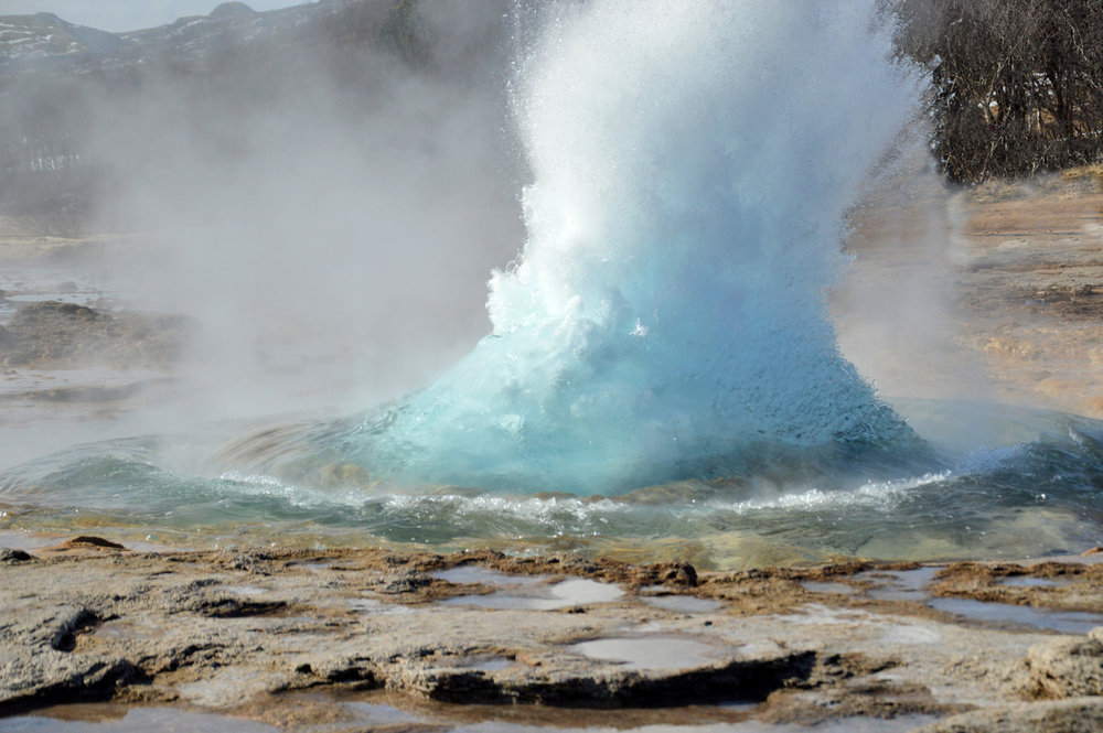 Strokkur geyser erupting