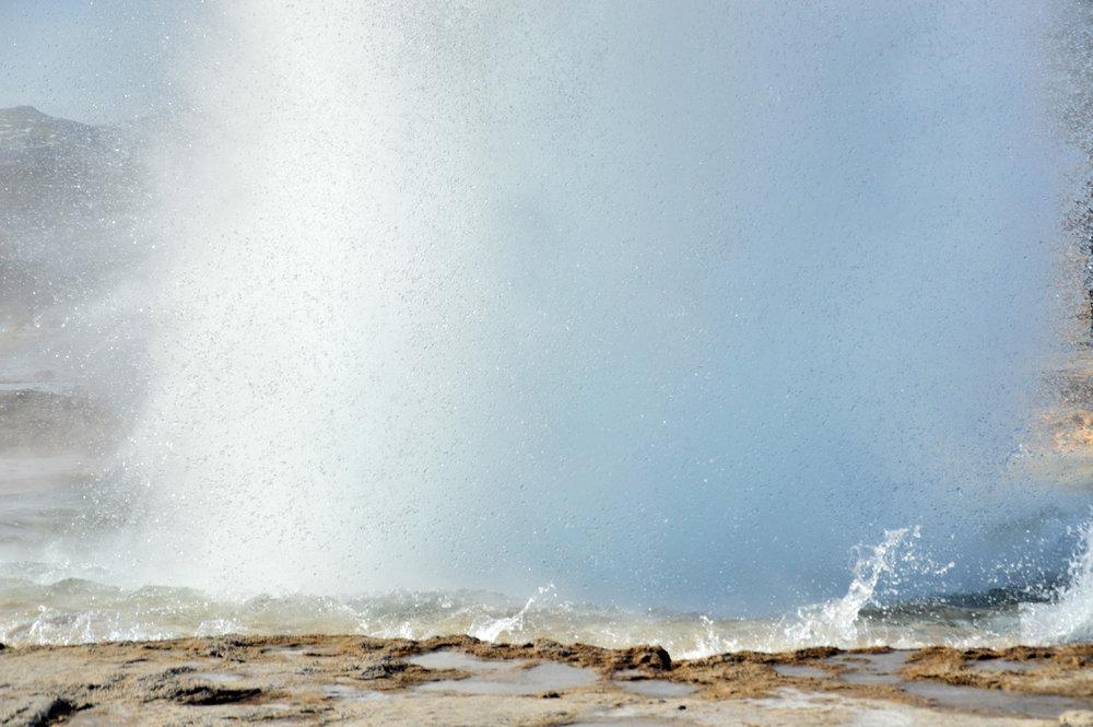 Geyser erupting