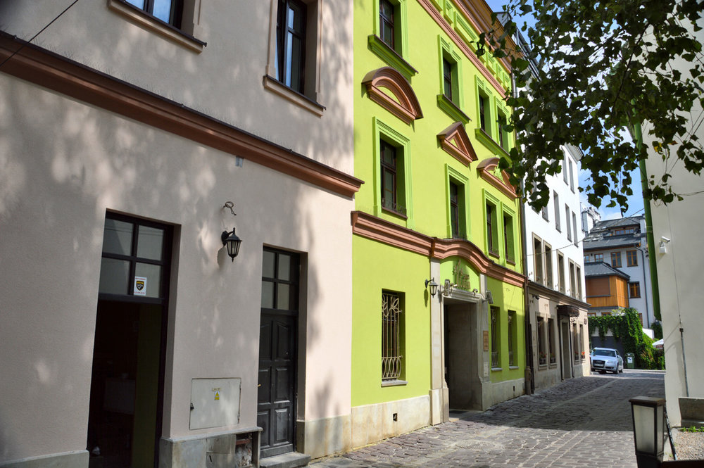 Restored buildings in Kazimierz