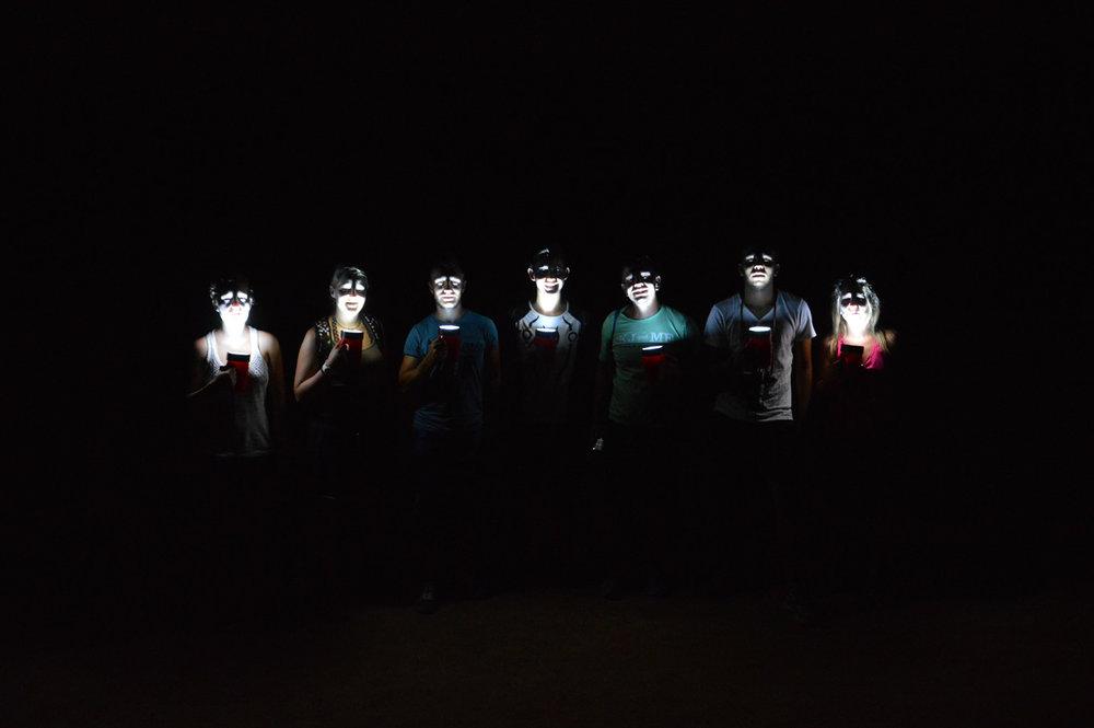 Na escuridão