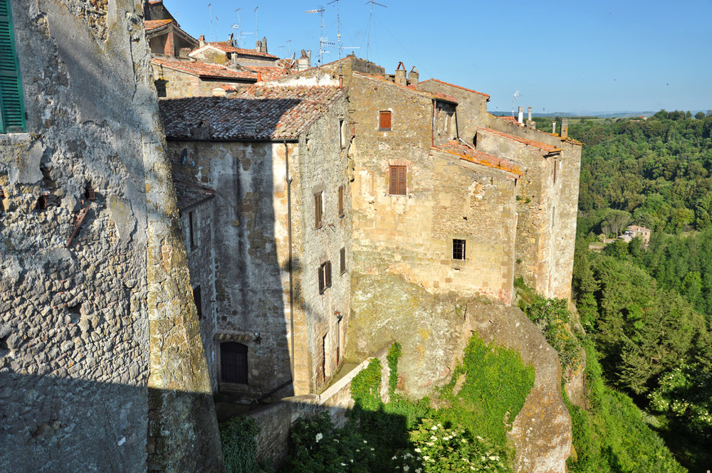 Old houses in Pitigliano