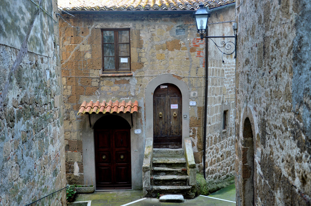 Typical house in Pitigliano