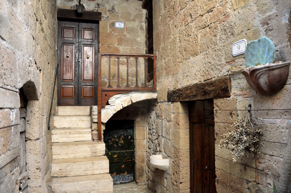 Another example of a house in Pitigliano
