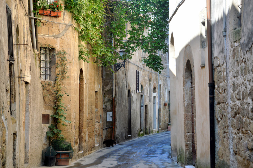 Beautiful street in Pitigliano