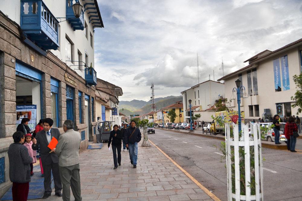 A street in Cuzco