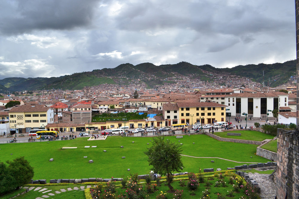 View of Cuzco from Qurikancha