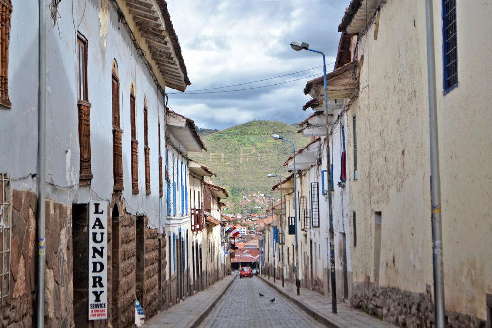 Viva el Peru - a street in Cuzco