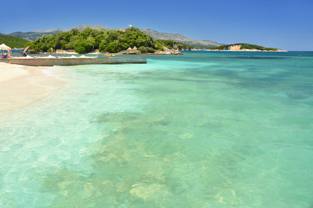 Beach in Ksamil