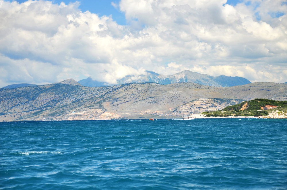 Mountains surrounding Albanian Riviera