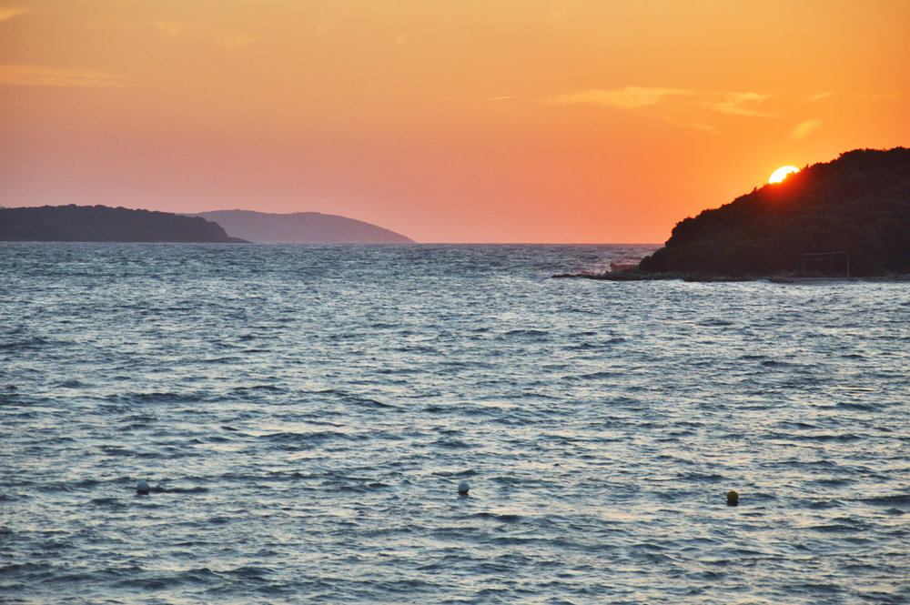 Sunset in Ksamil