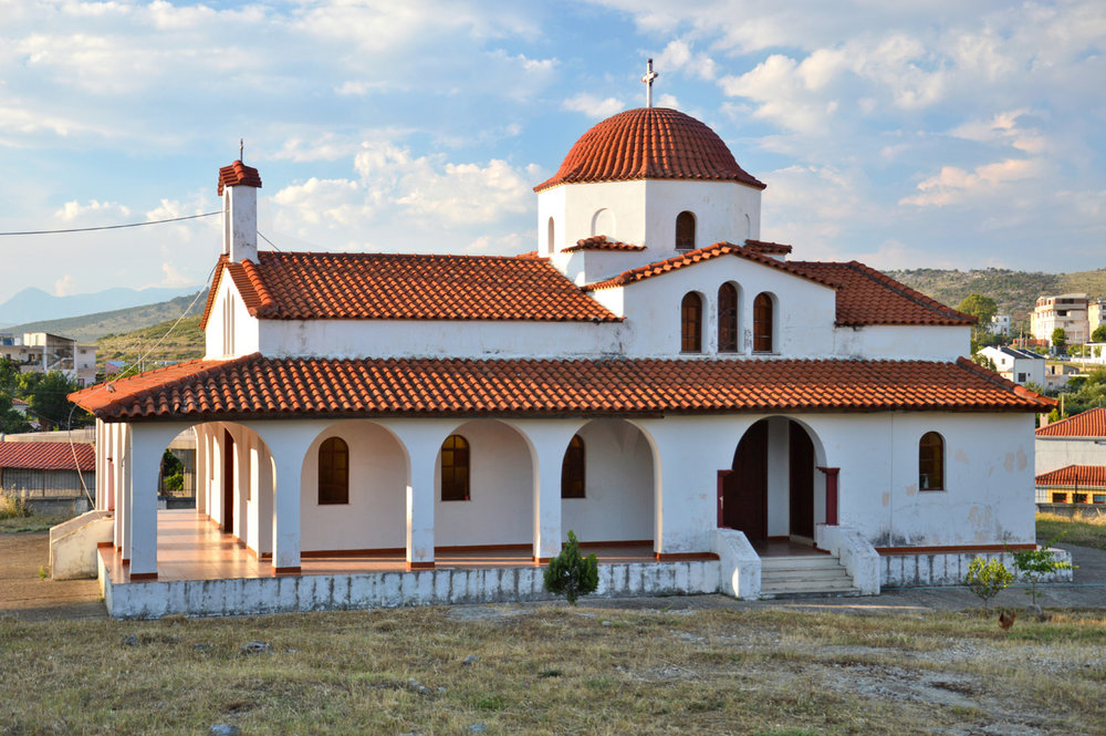 The church in the village of Ksamil