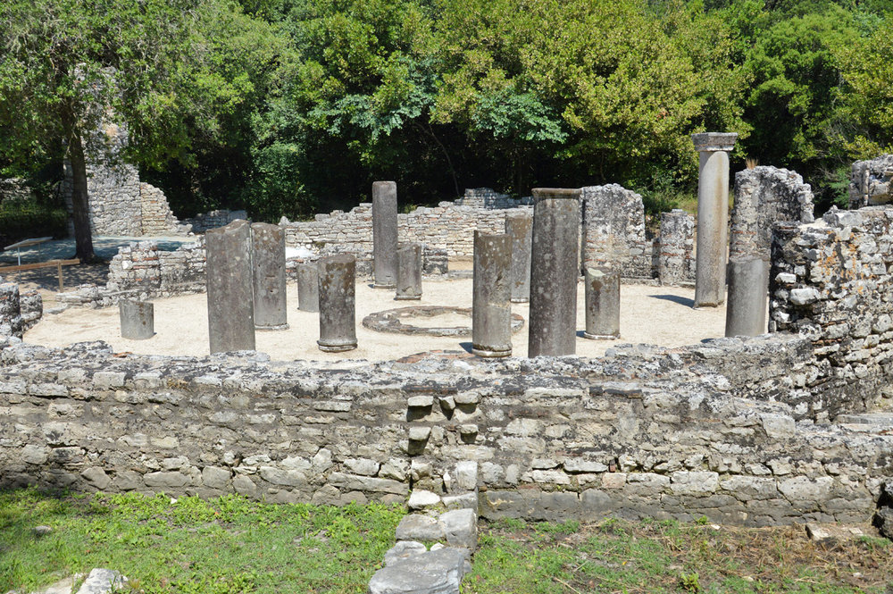 6th century Baptistery in Butrint
