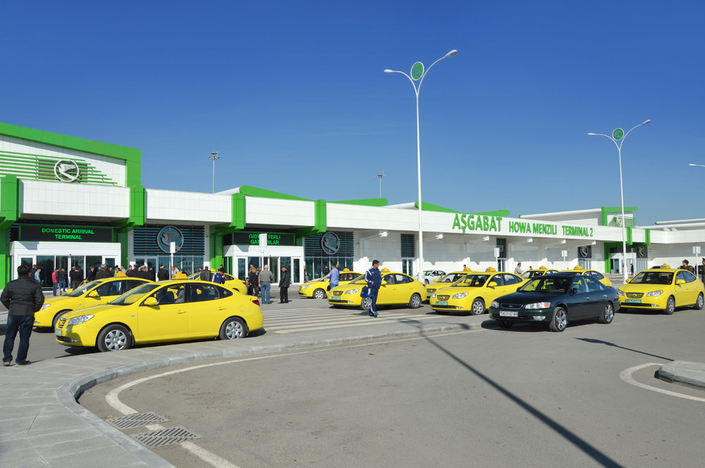Official taxis at Ashgabat Airport