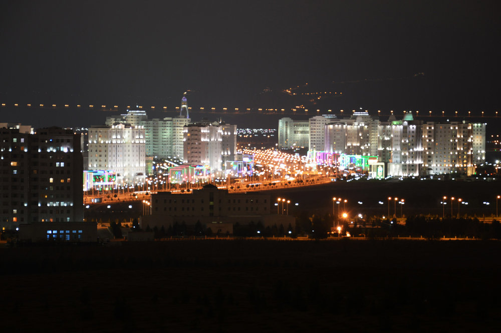 Panorama of Ashgabat - View from Bagt Kosgi