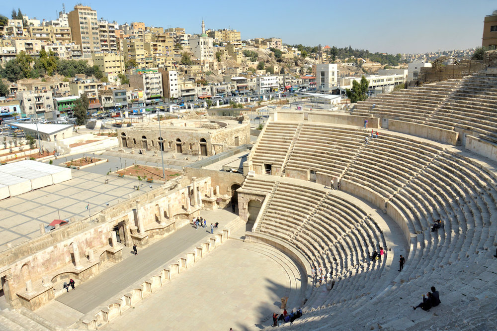 The Amphitheater and modern Amman