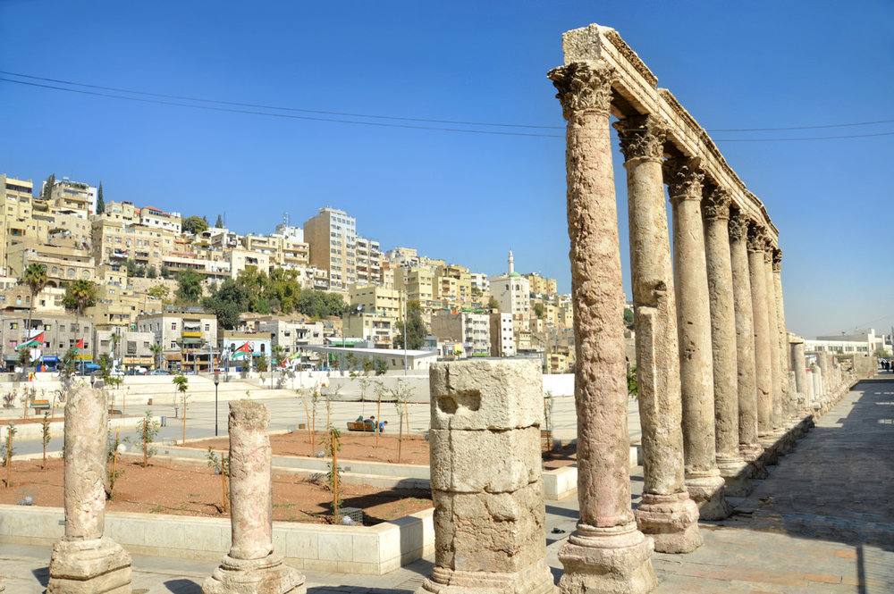 Roman ruins in downtown Amman