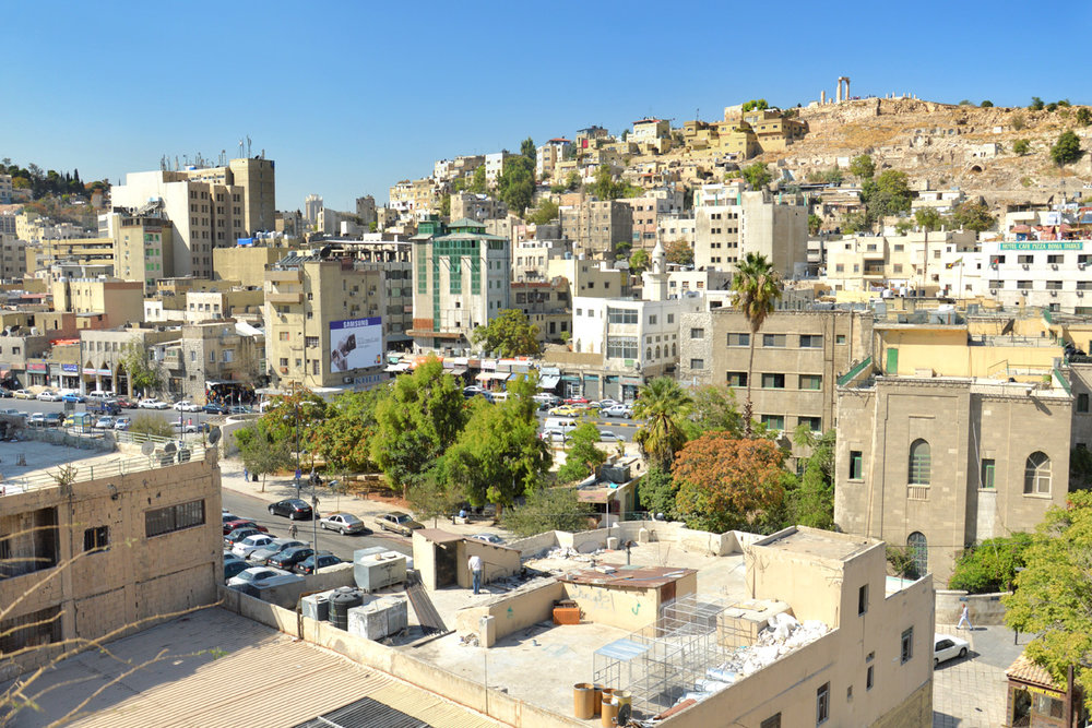 Amman - view of the Jabal al Qal'a hill
